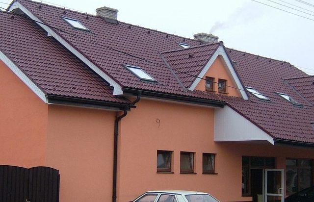 Penzión Poľovníček prestavba, strecha