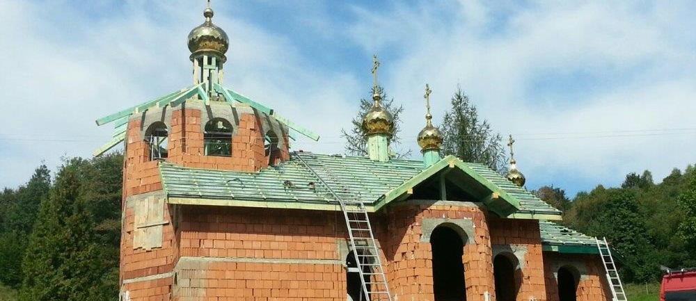 Strecha na chráme Krajné Čierno